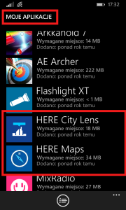 Lumia nawigacja